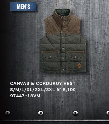 MEN'S CANVAS & CORDUROY VEST 97447-18VM
