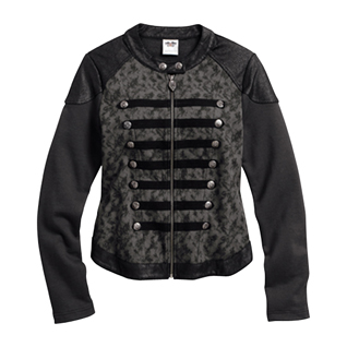 Lace Print Moto-Inspired Jacket