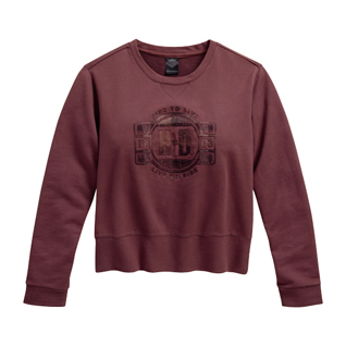 Needle Punch Pullover Sweatshirt