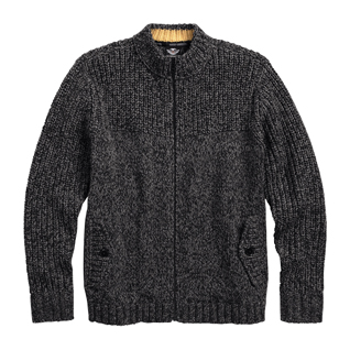 Marl Knit Zip-Front Sweater