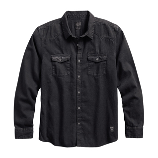 Coated Denim Shirt