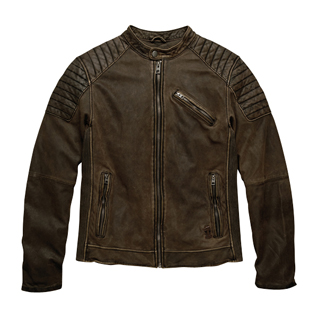 Stitched Lambskin Fashion Leather Jacket