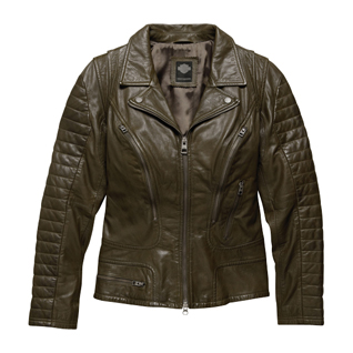 Washed Goatskin Leather Jacket