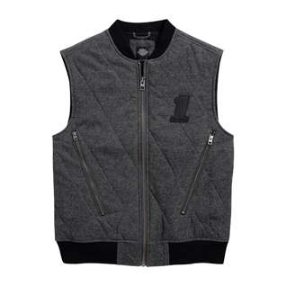 Quilted #1 Skull Vest