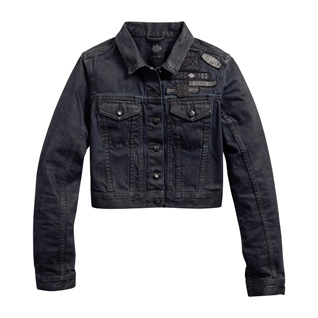 Coated Denim Trucker Jacket