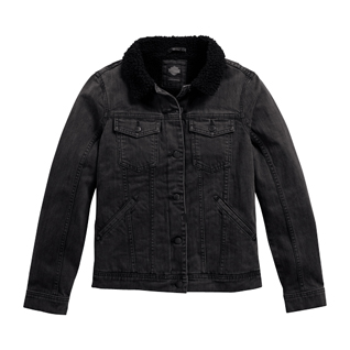 Sherpa Fleece Collar Denim Jacket