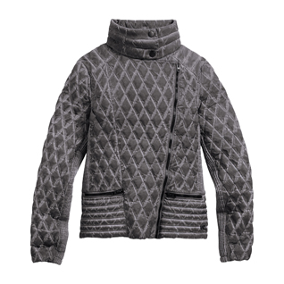 Quilted Biker Zip Jacket