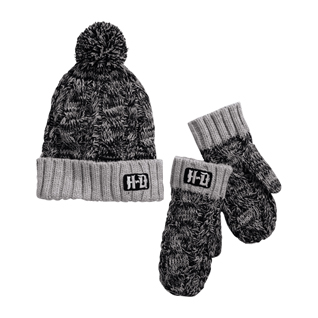 Knit Hat & Mittens Set