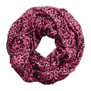 Pink Label Leopard Infinity Scarf